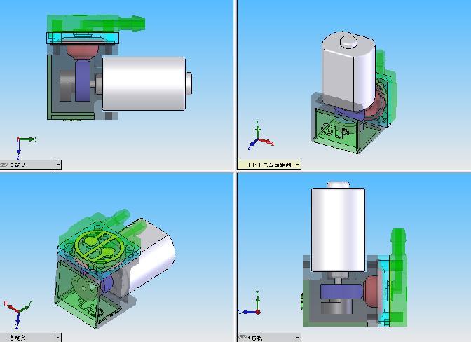 气泵结构的静态和动态展示